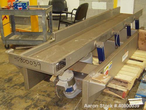 """Used-Key Technology ISO-FLO VibratoryConveyor,Model435535.1,304 stainless steel.Maximum stroke approximately 7 1/2"""".Co..."""
