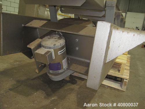 """Used-Key Technology ISO-FLO VibratoryConveyor,Model435541.1,304 stainless steel.Maximum stroke approximately 8"""".Convey..."""