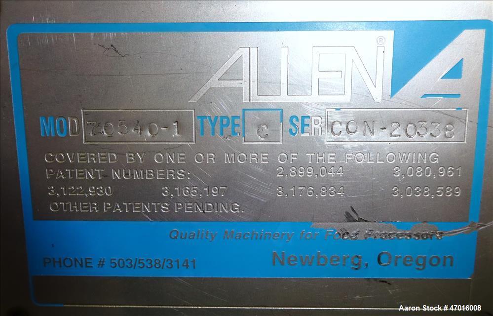Used- Allen Vibratory Conveyor, Model 70540-1.