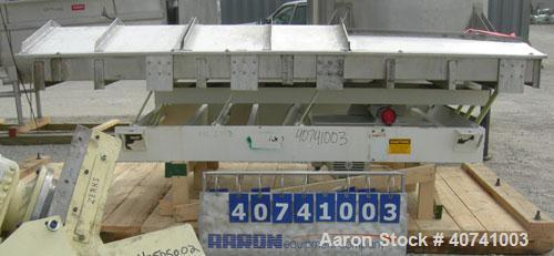 """Used- Cardwell Machine Company Vibe-O-Vey vibratory conveyor, model VC-1659, 304 stainless steel. 48"""" wide x 114"""" long x 6"""" ..."""