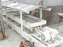 """Used- Cardwell Vibe-O-Vey Conveyor, Model VC-1659.Plastic trough 22"""" wide x 179"""" long x approximately 4"""" deep.Driven by a 3 ..."""