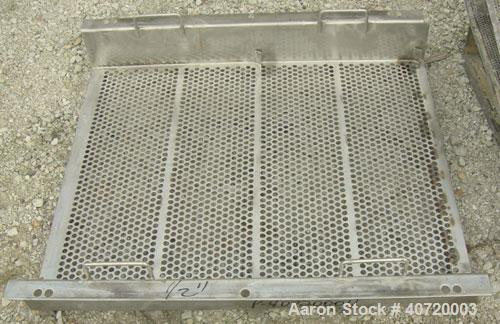 """Used- Carrier Vibratory Feeder/Screener, Model FCV36140S5/16, 304 Stainless Steel. 34 5/8"""" wide x 84"""" long screen area. 5/32..."""