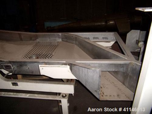 Used- Carrier Vibrating Conveyor, Model IDLM-3660S 304.