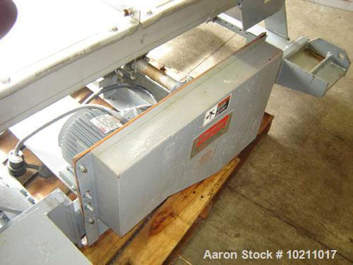 "Used-24"" Wide x 8'3"" Long x 6"" High Stainless Carrier Vibrating Conveyor, Model IM2460S9. 24"" wide x 8'3"" long x 6"" deep tra..."