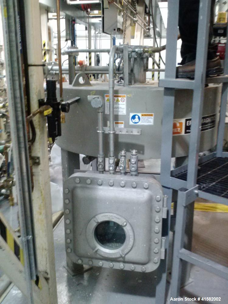 Used-Eriez Model 25-50 High Intensity Electro Magnet Filter System with N12 75 rectifier and controller, 5,000 HGMS.  Manufa...