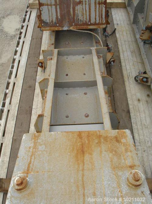 """Used-24"""" Wide x 14' Long Eriez Electro-Magnetic vibrating feeder. Vibrating feeder / conveyor has two Eriez electro-magnetic..."""