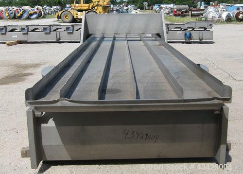 Used- Stainless Steel Key Technology Vibratory Conveyor, Model 432553-1