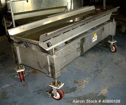 """Used- Key Technology ISO-FLO Vibratory Conveyor, model 430634-1, 304 stainless steel. Maximum stroke approximately 8"""". 24"""" w..."""