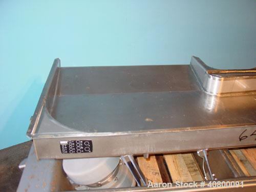 "Used- Key Technology ISO-FLO Vibratory Conveyor, Model 435532.1, 304 stainless steel. Maximum stroke approximately 8"". Conve..."