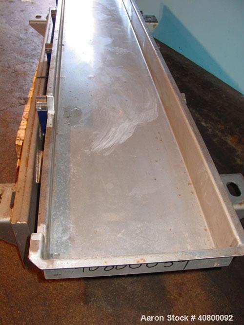 """Used- Key Technology ISO-FLO VibratoryConveyor,Model435535.1,304 stainless steel.Maximum stroke approximately 7 1/2"""".C..."""