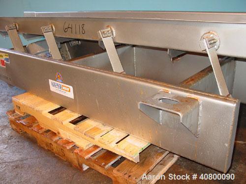 """Used- Key Technology ISO-FLO VibratoryConveyor,Model435541.1,304 stainless steel.Maximum stroke approximately 8"""".Conve..."""