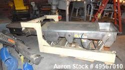 "Used- Eriez Vibrating Conveyor, Model VMC-30, Style 200707403. Stainless steel pan approximate 30"" wide x 108"" long x 8"" tal..."