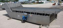 Used- Stainless Steel Key Technology Vibratory Conveyor, Model 432553-1