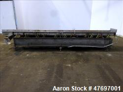"Used- Triple S Dynamics Vibrating Conveyor, Model RLEB-18, 304 Stainless Steel. Approximate 18"" wide x 166"" long x 6"" deep p..."