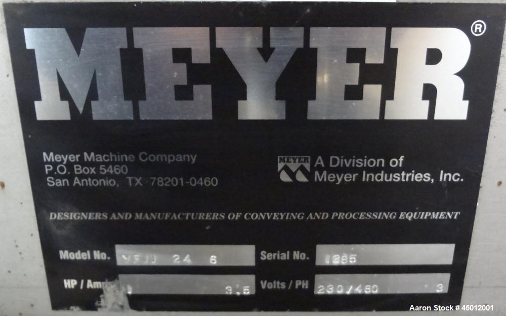 Used- Stainless Steel Meyer Machine Vibra-Flex Vibratory Conveyor, Model YF II 2