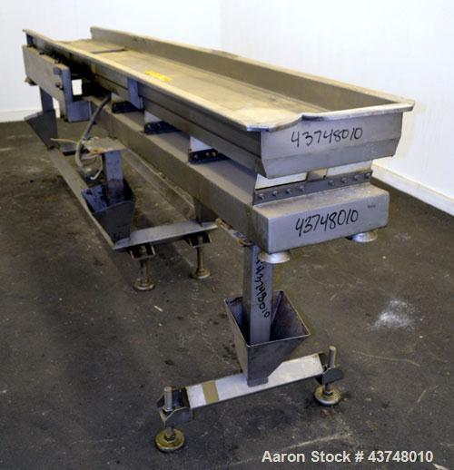 Used- Stainless Steel Smalley Vibratory Conveyor