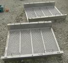 Used- Carrier Vibratory Feeder/Screener, Model FCV36140S5/16, 304 Stainless Steel. 34 5/8