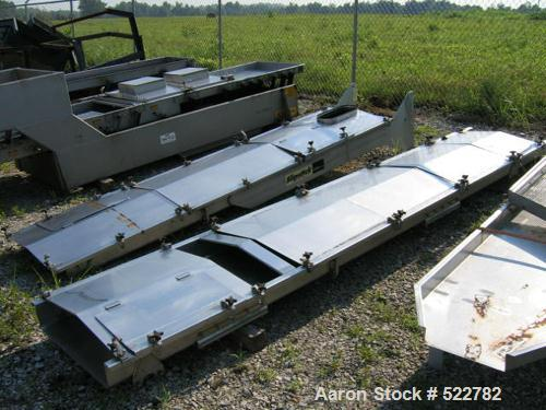 "Unused-UNUSED: 30"" wide x 27'6"" long stainless steel vibrating conveyor, totally enclosed. Manufactured by Triple S Dynamics..."