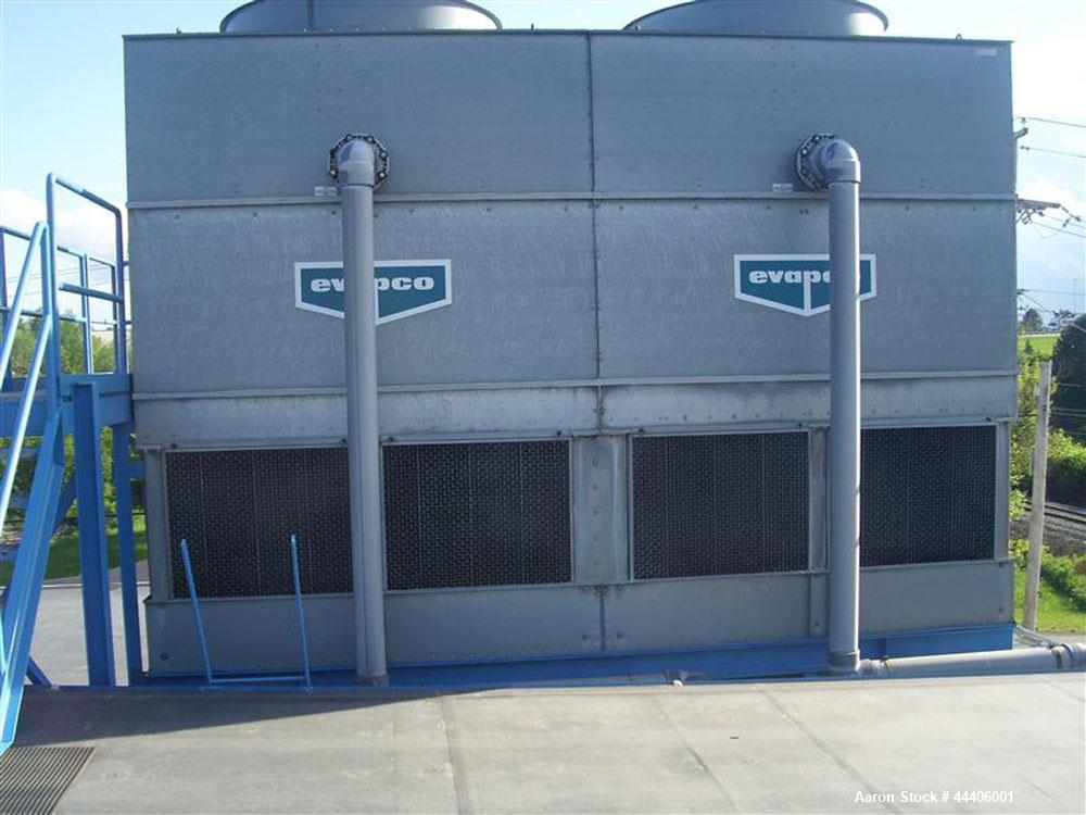 Used-Open Cooling Tower System with Isolated Process Water Tank, 340 Ton. Includes cooling tower, model AT8-918B induced dri...