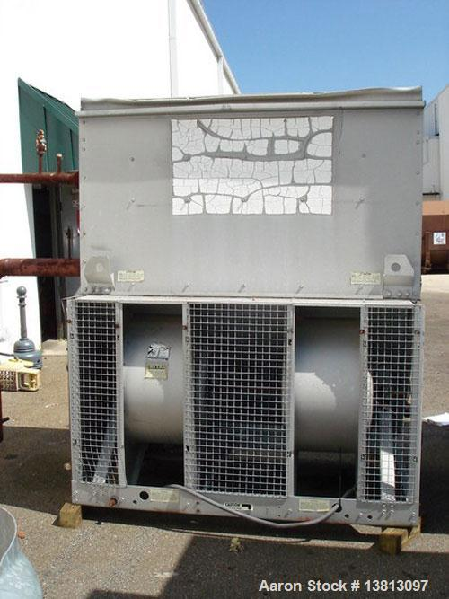 Used-BAC Evaporative Condenser Cooling Tower, 36.75 ton, model C1721G. 3/4 Hp, 3/60/208-230/460 Volt, 3450 RPM blower. R717 ...