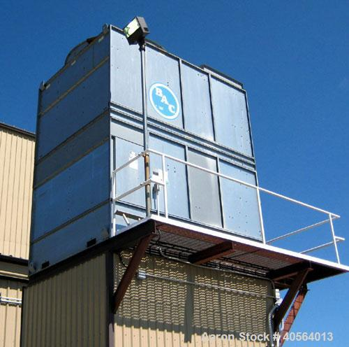 Used- Cooling Tower, BAC of Canada, model 15227 with top mounted fan. Fill and eliminators look good. Single cell design app...