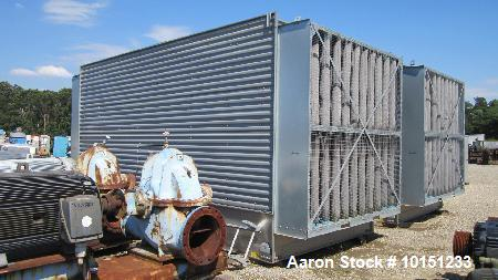 Unused- BAC Stainless Steel Cooling Tower, Model 3455A-MM-2/QX. Dual cell, each cell is approximately 455 tons and capable o...