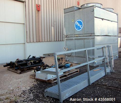 Used- Baltimore Aircoil FXV Closed Circuit Cooling Tower, Model FXV-444DP. Nominal tons 140. Galvanized steel housing. Desig...