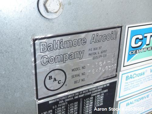 Used- Baltimore Air Coil Cooling Tower, Model 3436A-2.