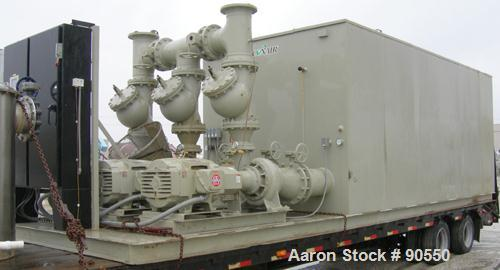 Used: Conair E3 series induced draft cooling tower, model E3-500, 500 tons.1500 gallons per minute,5 psi, (3) top mounted 10...