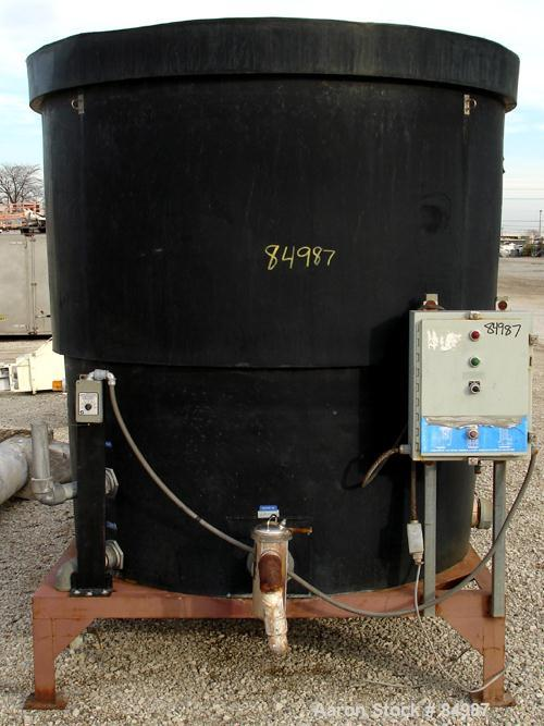 USED: Delta Pioneer forced draft cooling tower, model DT-75. Counter flow design, 75 ton capacity. Plastic housing, 157 sump...