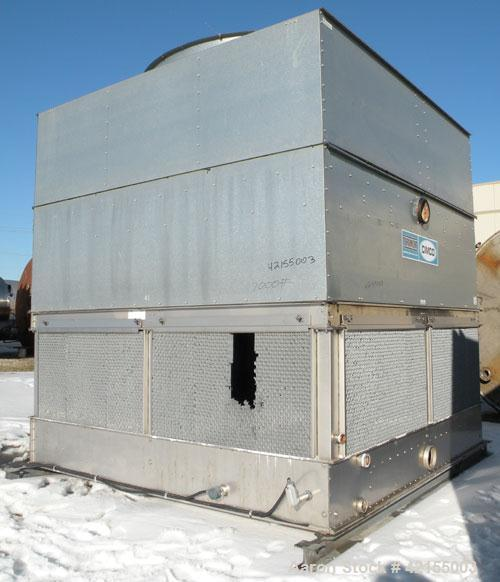 Used- Evapco/ Cimco Cooling Tower, Model AT 112-112. Nominal capacity 424 ton. Single cell, open loop system. Galvanized ste...