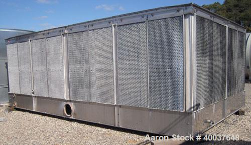 Used- Evapco Cooling Tower, model AT-114-0324,833 nominal tons. Galvanized top section, 304 stainless steel pan/strainers.