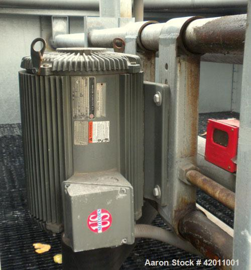 Used- Evapco Cooling Tower, Model AT 12-812B, Nominal 450 Tons. Top mounted fan driven by a 25/6.25 HP, 3/60/460 volt, 1760/...