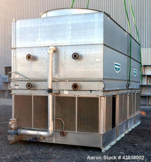 Used- Evapco Closed Circuit Cooling Tower, Model ATW 276C. Nominal capacity 1066 tons. Galvanized steel housing, 304 stainle...