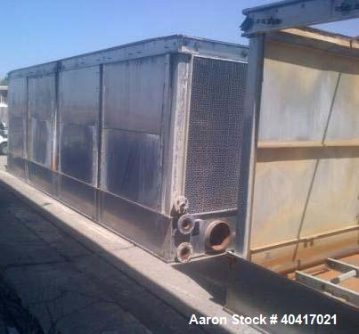 "Used-Evapco Cooling Tower, Model USS 428-0648, 820 ton, stainless steel, built in 2007.  Approximate dimensions:  158"" wide ..."