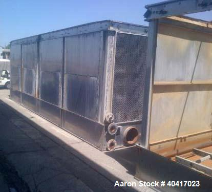 """Used-Evapco Cooling Tower, Model USS 428-0648, 820 ton, stainless steel, built in 2007.  Approximate dimensions:  158"""" wide ..."""