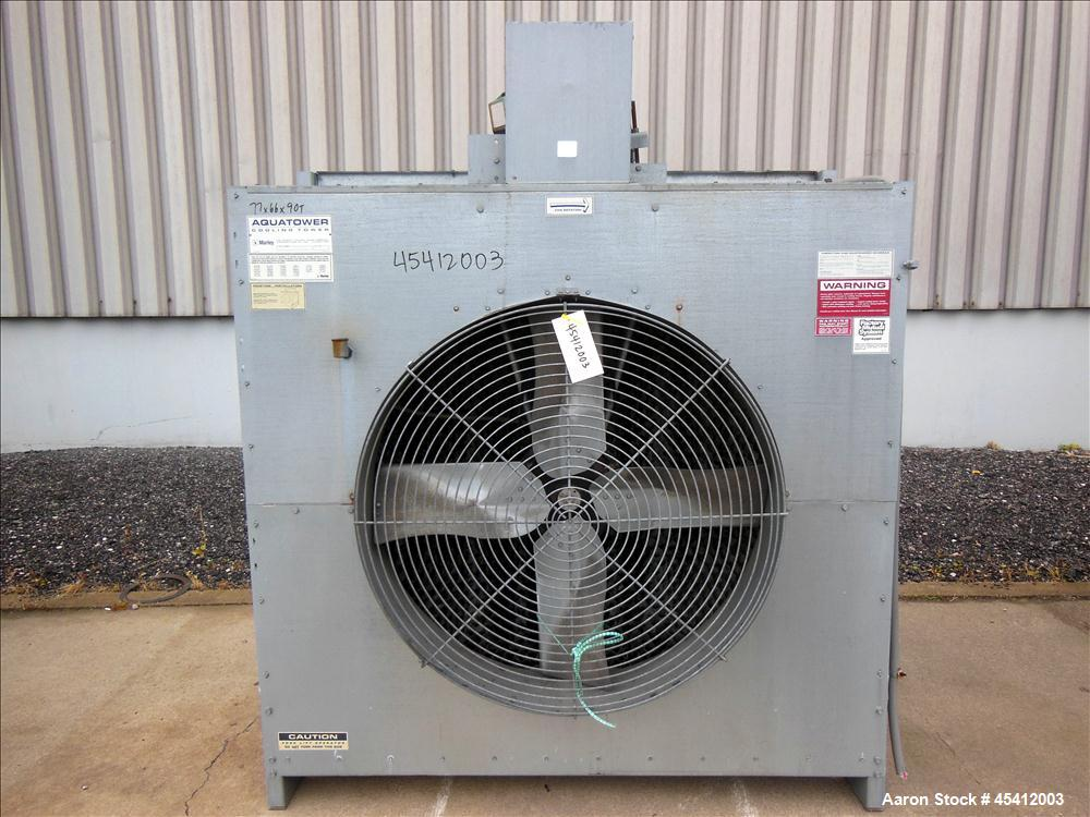 Used- Marley Series 4800 Aquatower Single Cell Cooling Tower, Model 4842. Approximately 60 nominal tons. Galvanized steel ho...
