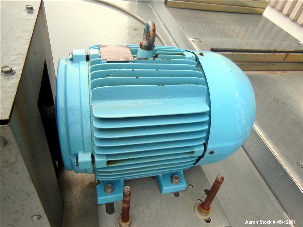 Used- Marley Aquatower Single Cell Cooling Tower, Model 496B. Approximately 126 nominal tons, galvanized steel housing. Desi...