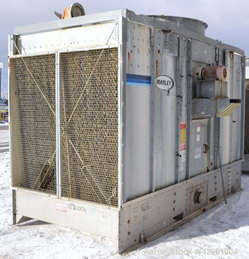Used- Marley NC Series Single Cell Cooling Tower, 130 Ton, Model NC1102CM, Open Loop System. Galvanized steel housing, stain...