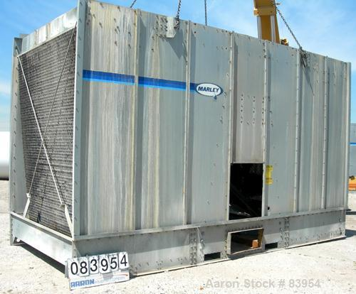USED: Marley cooling tower, model NC412, nominal capacity 379 ton. Single cell. Galvanized steel housing. 8' diameter fan, d...