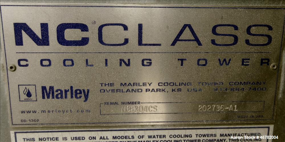 Used- Marley NC Class Single Cell Cooling Tower, Model NC8304F-1