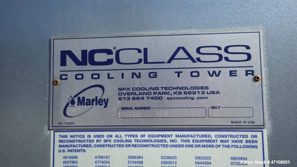 Used- Marley NC Class Dual Cell Cooling Tower, Model NC8306J2GG, Approximately 1