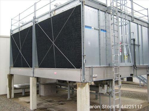 Used- Marley Cooling Tower, Model NC8309-E2CS, Approximate 1126 Tons. Nominally rated 16.9mm btu/hr, 3380 GPM flow rate, 25h...