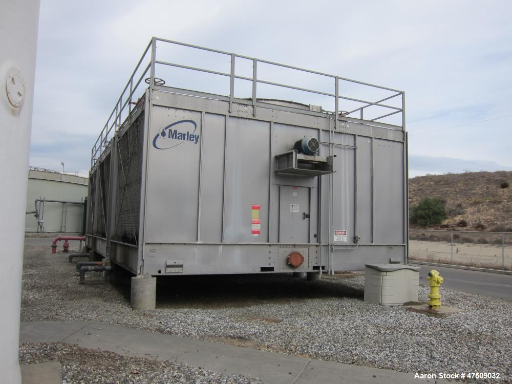 Used-Marley Cooling Tower, Model NC 8309G.  Nominal capacity 663 tons.  Galvanized steel housing.  Dimensions:  14' x 22.5' ...