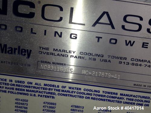 Used-Marley Cooling Tower, 850 Ton, Model NC8311G1BS.