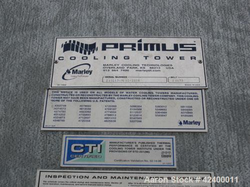 Used-Marley Cooling Tower, Primus. Approximately 200 ton.   Belt 2 BX73, Galvenized.