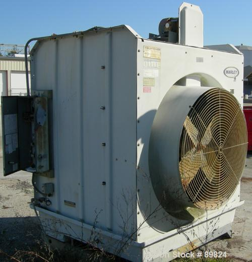 "USED: Marley Aquatower cooling tower. Nominal capacity 85 tons @ 255 gallons per minute. 48"" diameter fan driven by an appro..."