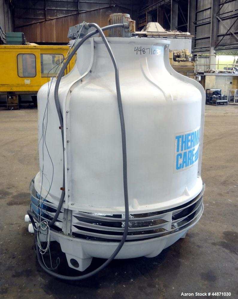 Used- Thermal Care FT Series Cooling Tower, Fiberglass Construction. Cooling capacity 22 tons, nominal 66 gallons per minute...