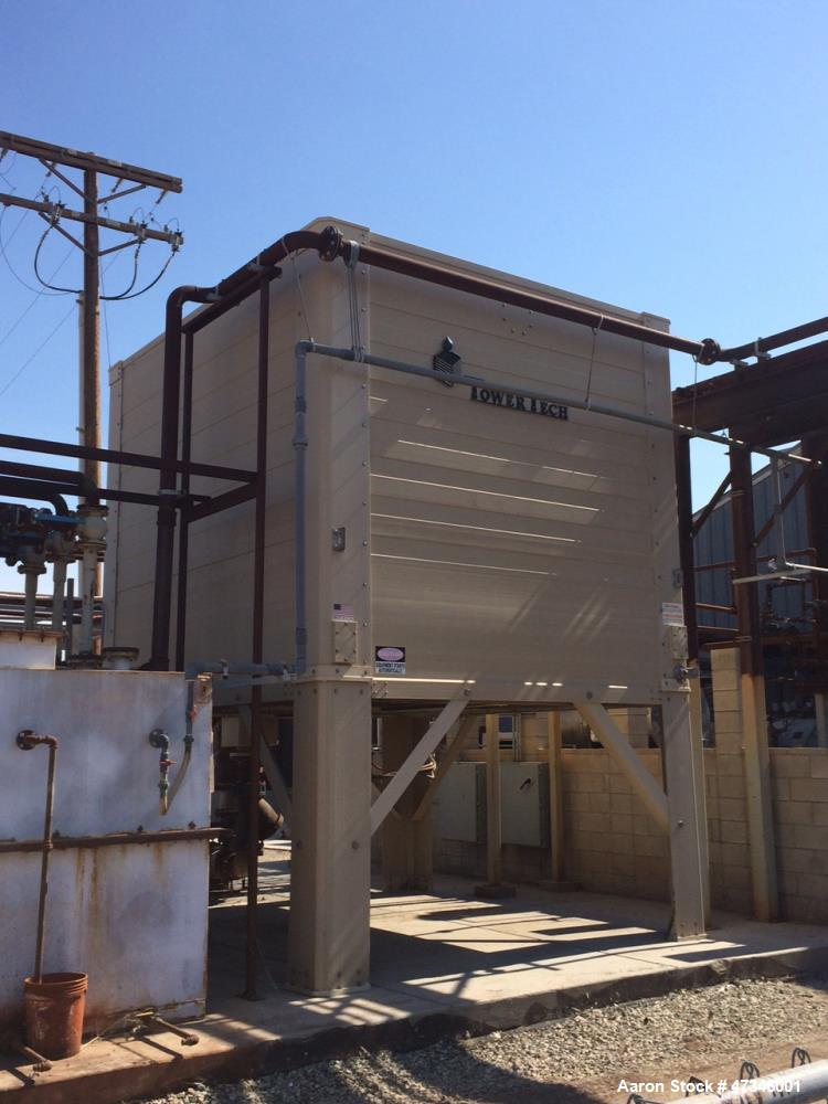 Used- Tower Tech Inc. Cooling Tower, 600 Tons, Model TTXE-04, Fiberglass Construction. Shell width and length. Single cell, ...