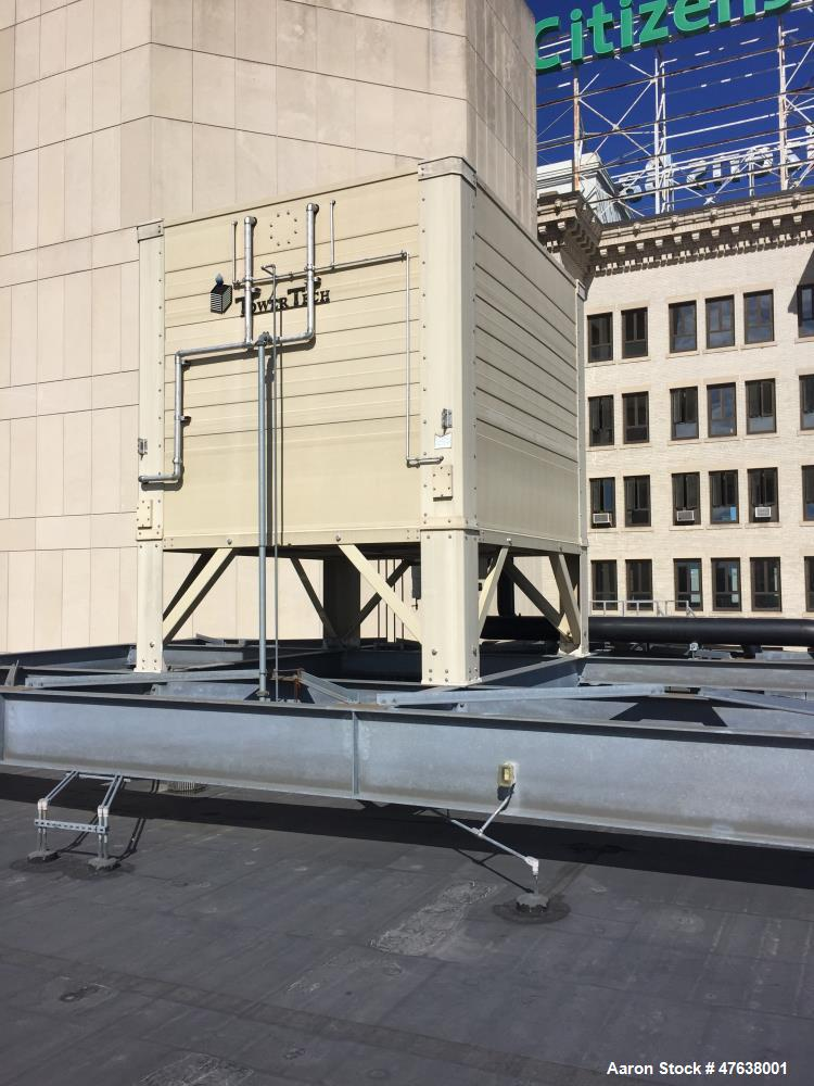 """Used- Tower Tech Modular Cooling Tower, Model TTXL. 760 gallon capacity. 12' wide x 13'6"""" long. (4) fans/motors, 30 hp, 10"""" ..."""